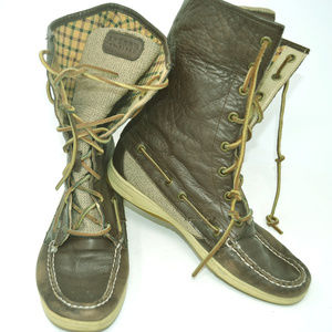 Sperry Top Sider Women's Brown Leather Boots